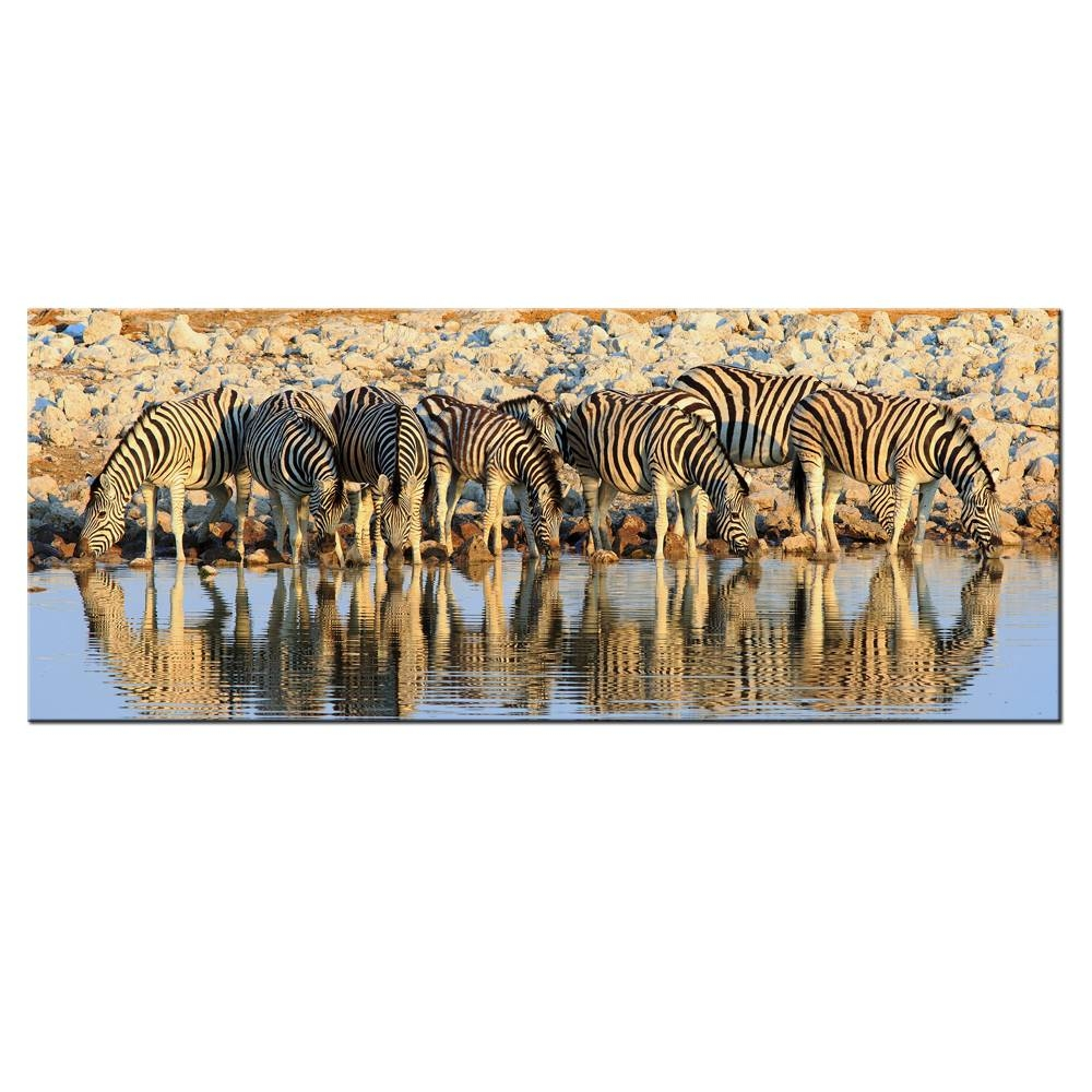 Canvas Painting Pictures Zebras Wall Art Home Decor Animal Zebra With Regard To Most Recent Zebra Wall Art Canvas (View 18 of 25)