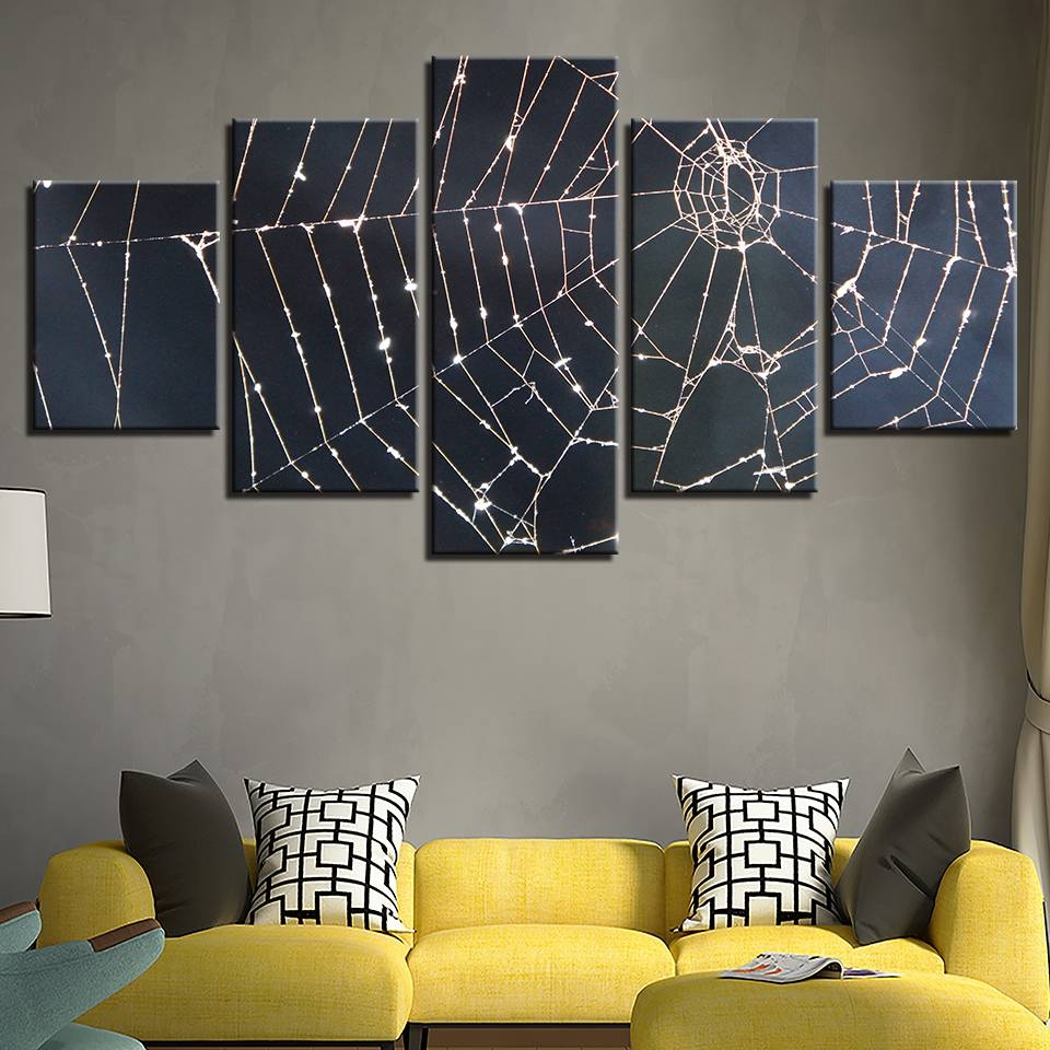 Canvas Paintings Modular Wall Art Framework Home Decor 5 Pieces With Most Current Modular Wall Art (View 11 of 25)