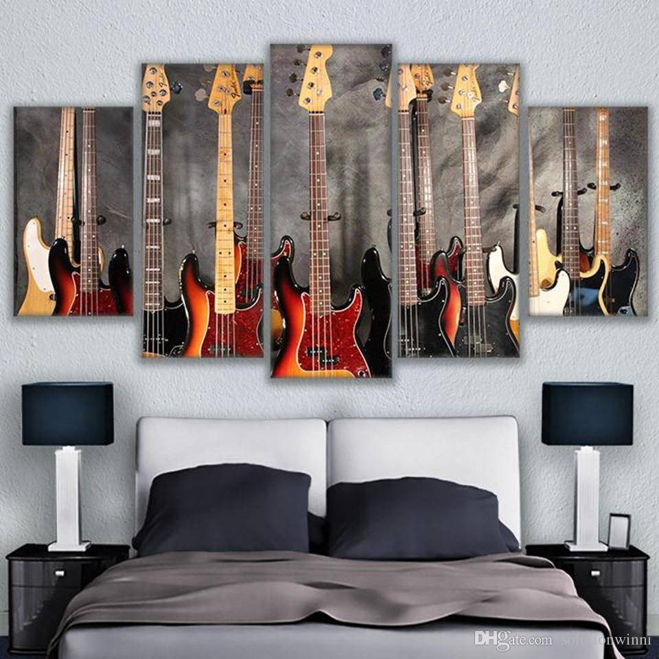 Canvas Pictures Hd Prints Wall Art Musical Instrument Guitar Within Most Popular Musical Instrument Wall Art (View 6 of 25)