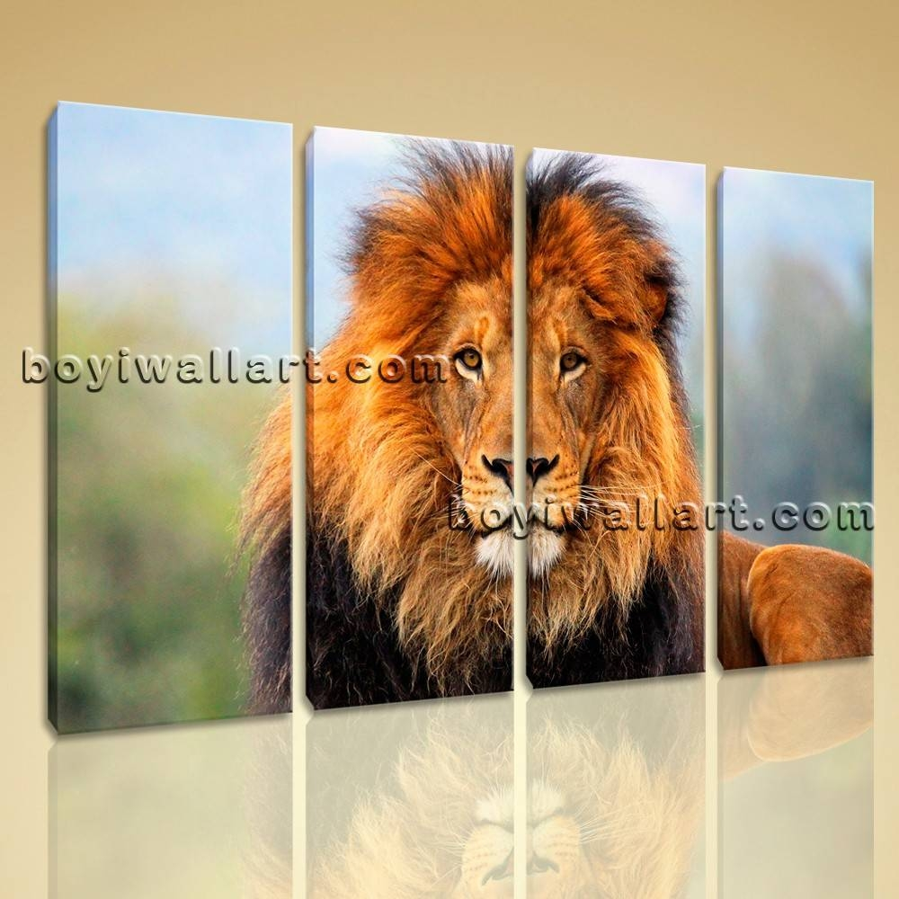 Canvas Print Hd Africa Landscape Lion Sunset Glow Wall Art Decorative Pertaining To Most Recently Released Lion Wall Art (View 9 of 20)