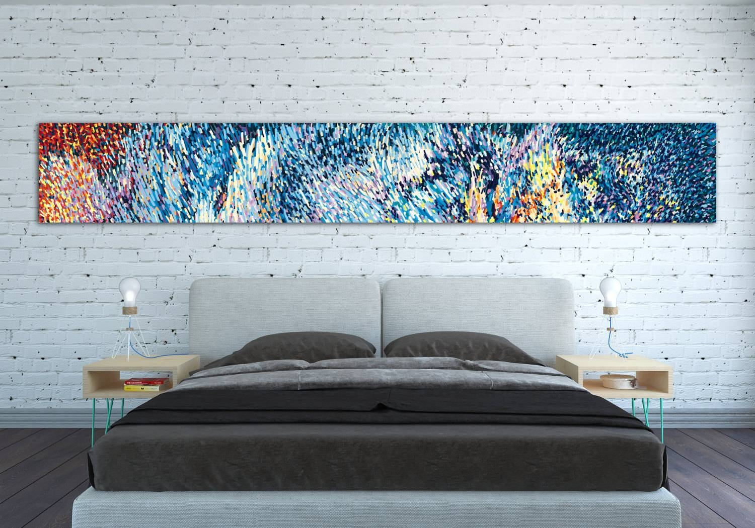 Canvas Print Horizontal Extra Long Horizontal Large Abstract With Regard To Latest Horizontal Canvas Wall Art (View 2 of 20)