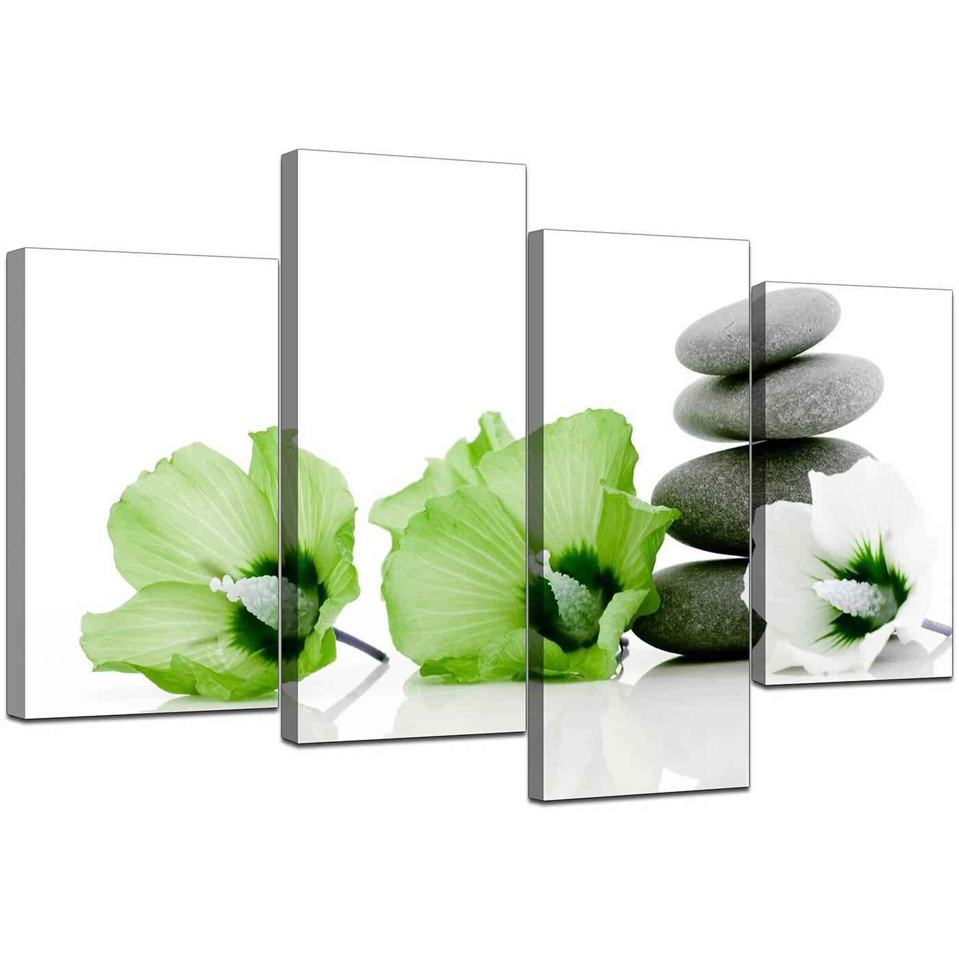 Canvas Prints Of Flowers In Green For Your Living Room Regarding Most Recently Released Green Canvas Wall Art (View 10 of 20)