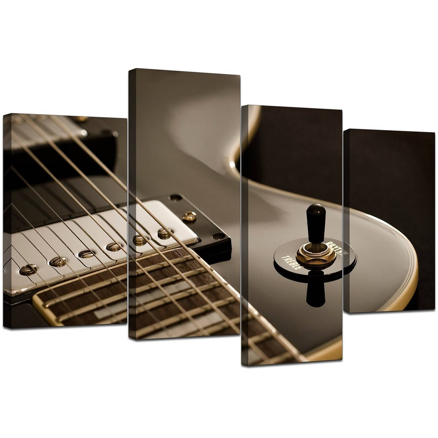 Canvas Prints Of Guitar In Black & White For Your Teenage Boys Bedroom With Regard To Newest Guitar Canvas Wall Art (View 12 of 20)