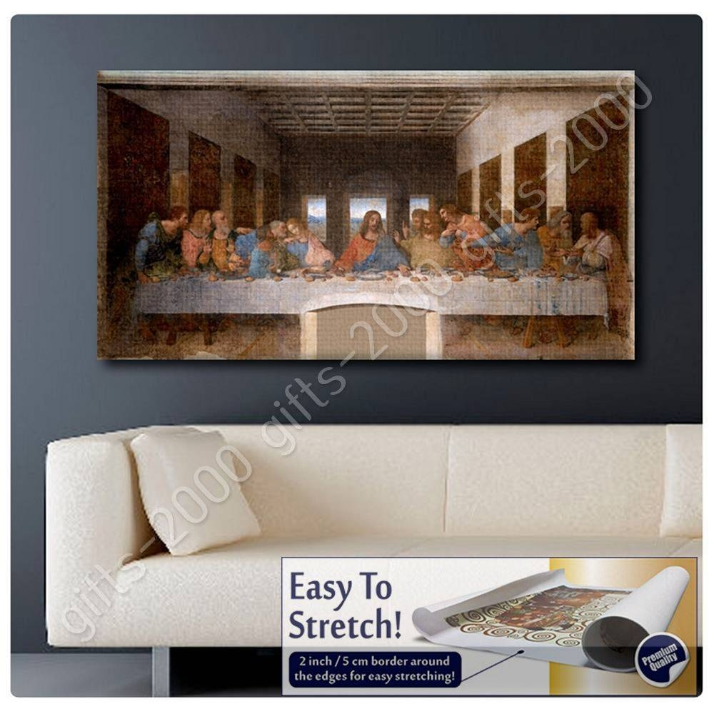 Canvas (Rolled) The Last Supper Leonardo Da Vinci Oil Paints Throughout Recent The Last Supper Wall Art (View 4 of 20)