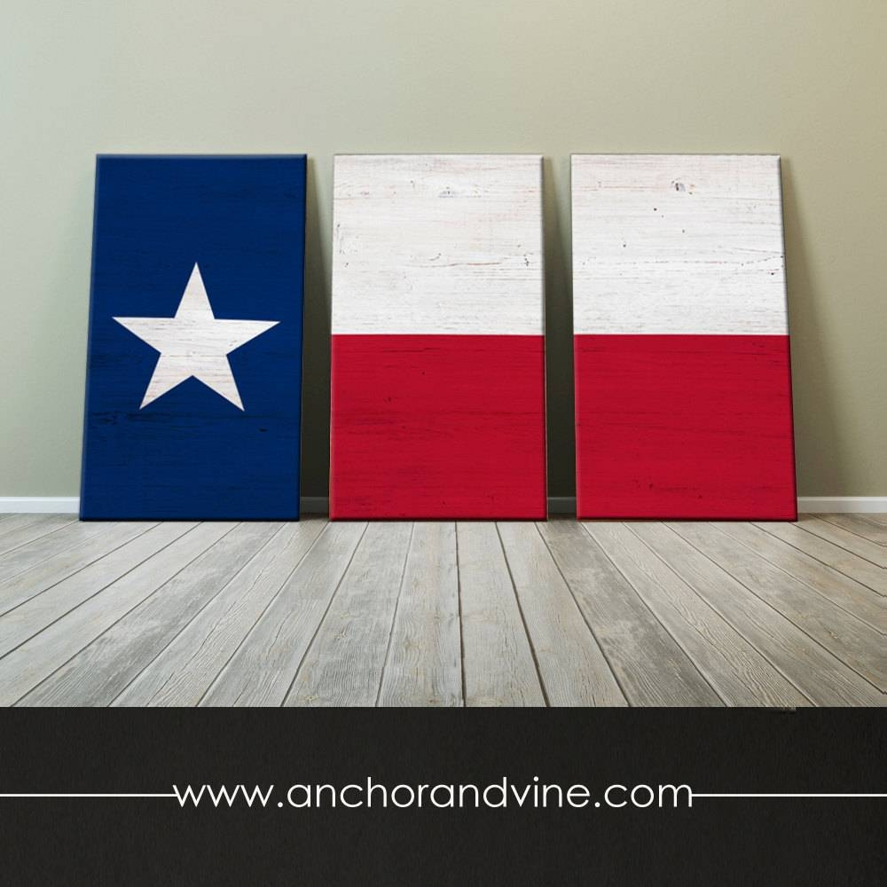 Canvas // Texas Flag // Oversized Canvas Large Wall Art Regarding Most Recently Released Oversized Canvas Wall Art (View 10 of 20)