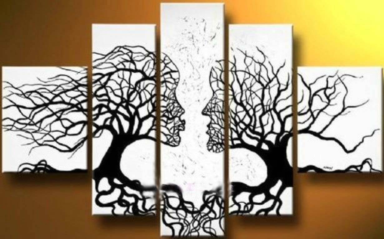 Canvas Tree Art On Wall With Long Canvas Ideas (View 3 of 20)