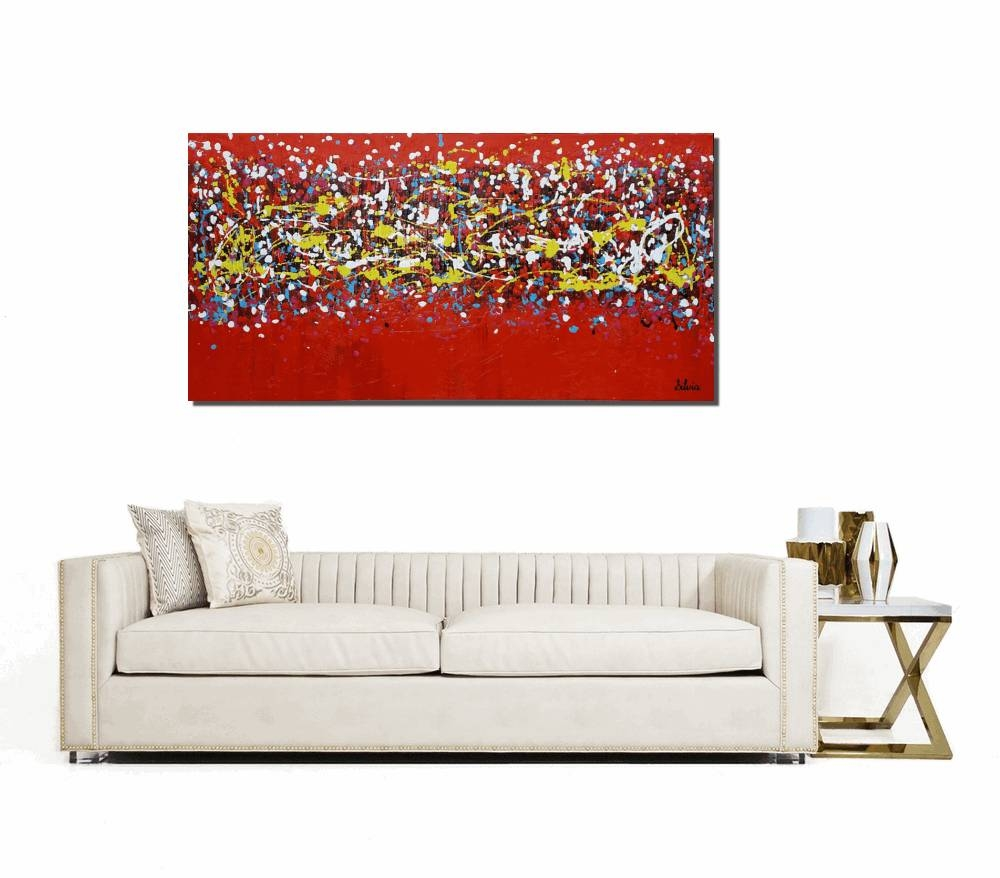 Canvas Wall Art, Abstract Art, Large Art, Contemporary Painting Within Newest Large Yellow Wall Art (View 5 of 20)