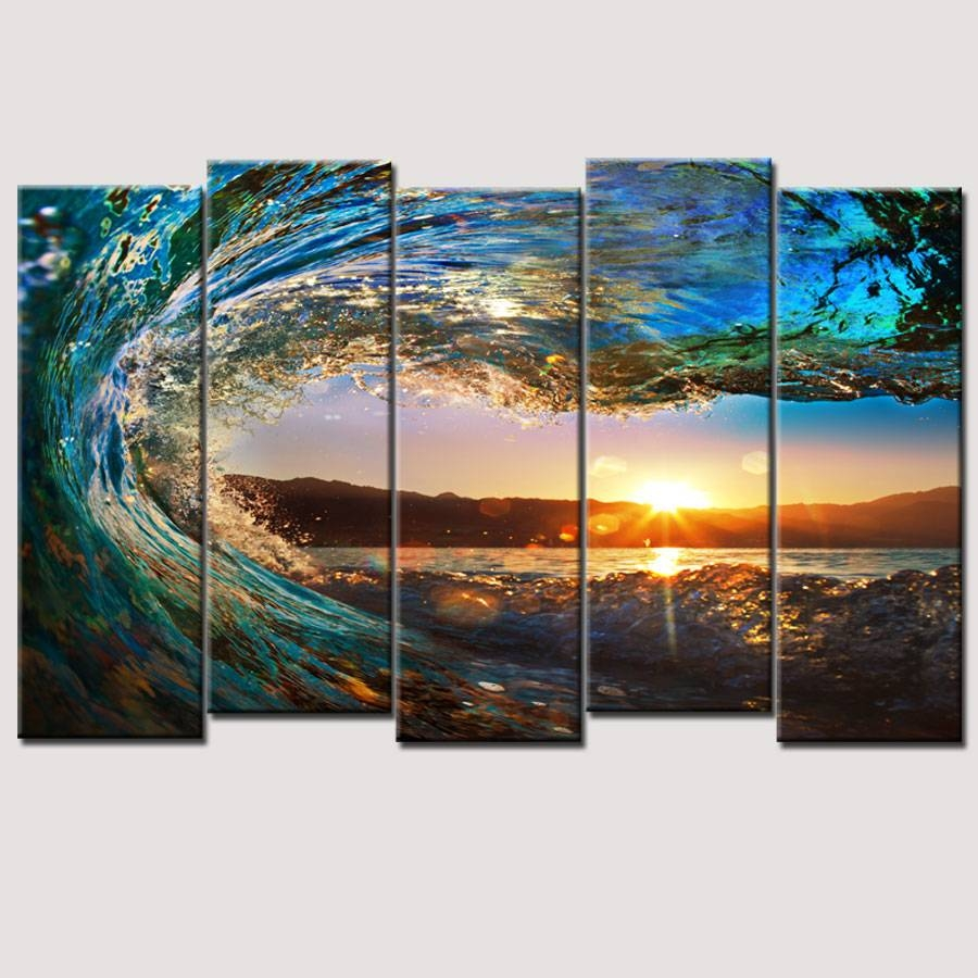 "Canvas Wall Art – Amazon: Wieco Art 4 Piece ""brown Clouds Throughout Newest 4 Piece Wall Art Sets (View 6 of 20)"