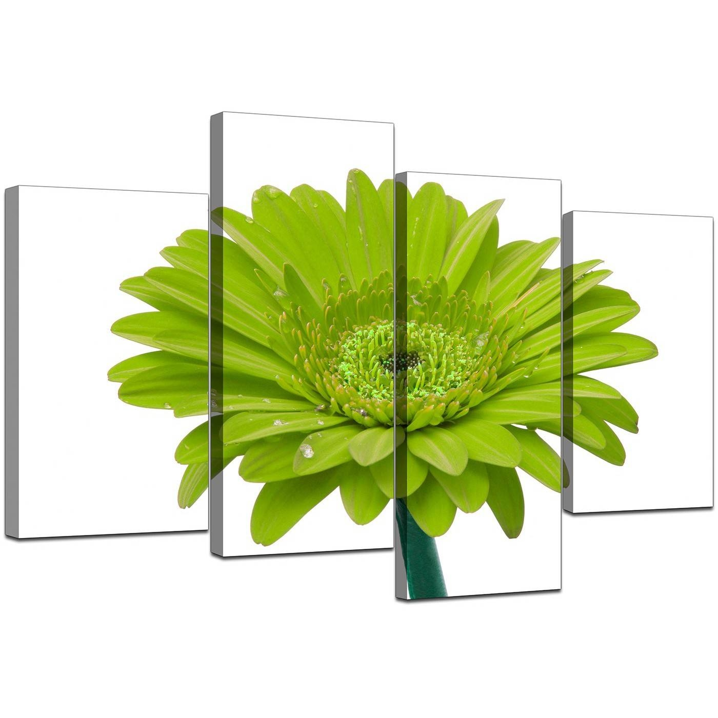 Canvas Wall Art Of Flower In Lime Green For Your Living Room Regarding 2018 Green Canvas Wall Art (View 11 of 20)