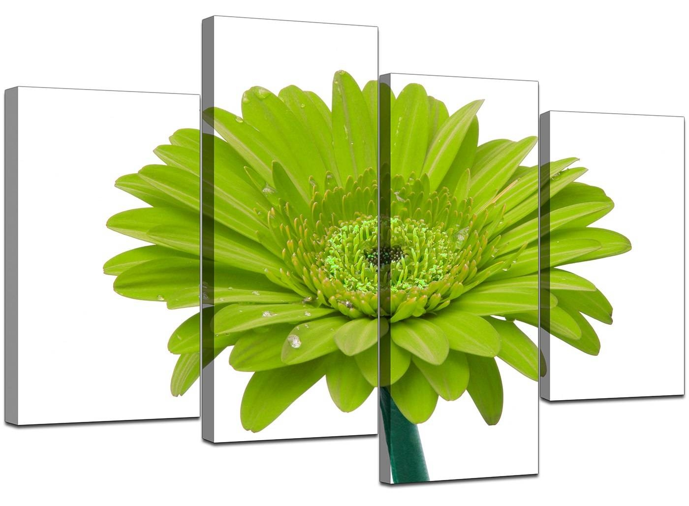 Canvas Wall Art Of Flower In Lime Green For Your Living Room With Regard To Latest Lime Green Wall Art (View 15 of 20)