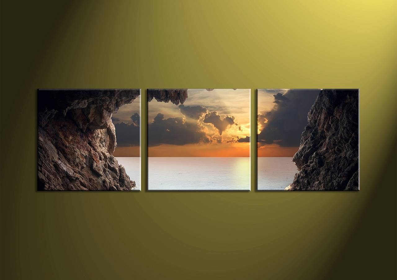Canvas Wall Art Sets Image Photo Album 3 Piece Wall Art - Home inside Recent 3 Piece Wall Art Sets