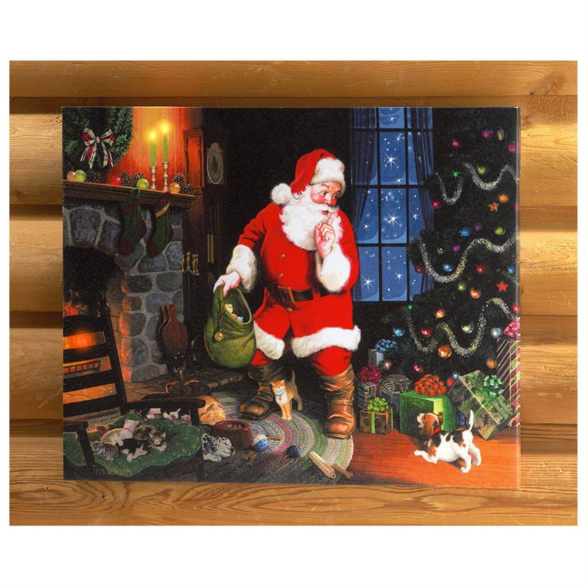 Canvas Wrapped Christmas Wall Art – 616310, Seasonal Gifts At For Most Recent Seasonal Wall Art (View 7 of 20)