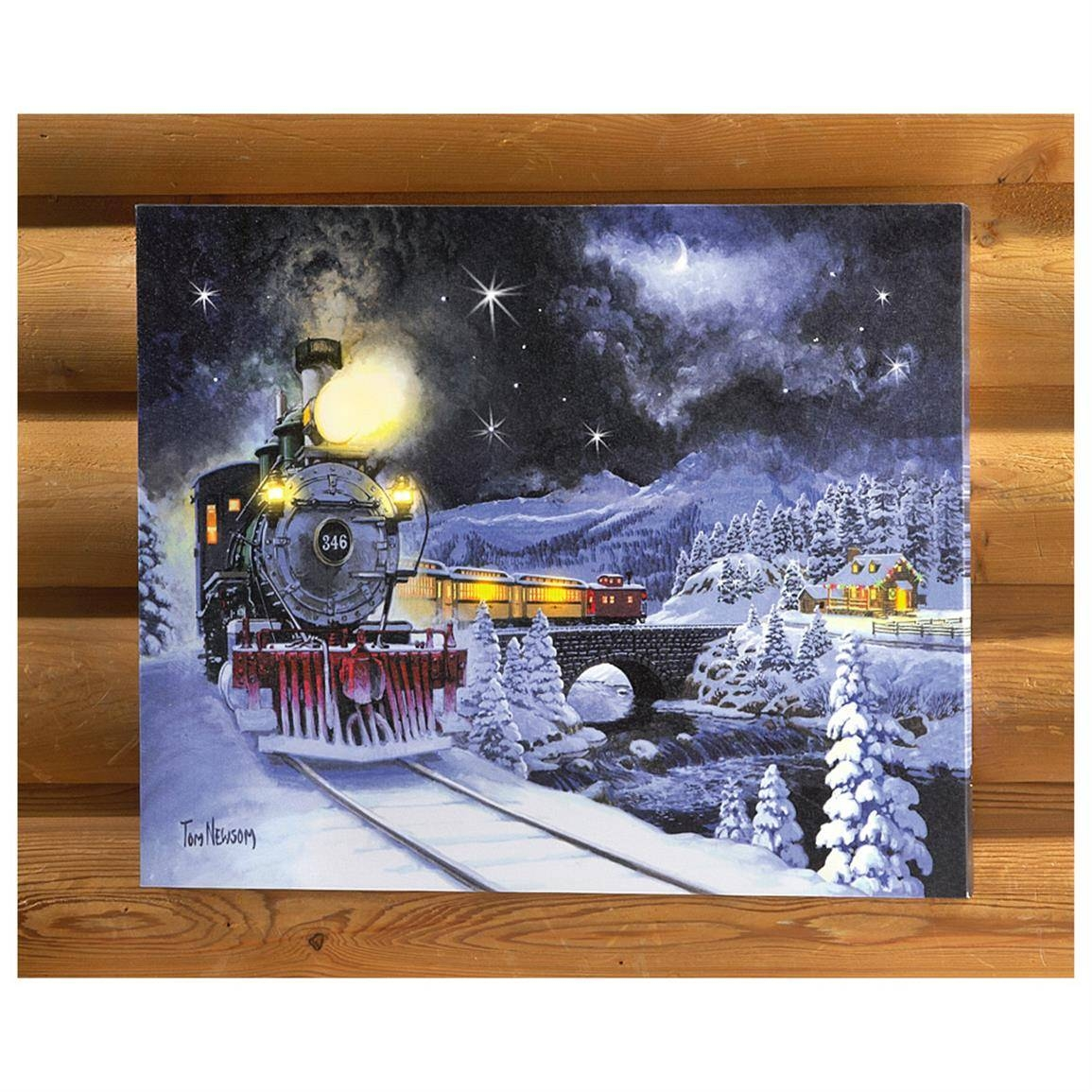 Canvas Wrapped Christmas Wall Art – 616310, Seasonal Gifts At Pertaining To Best And Newest Seasonal Wall Art (View 8 of 20)