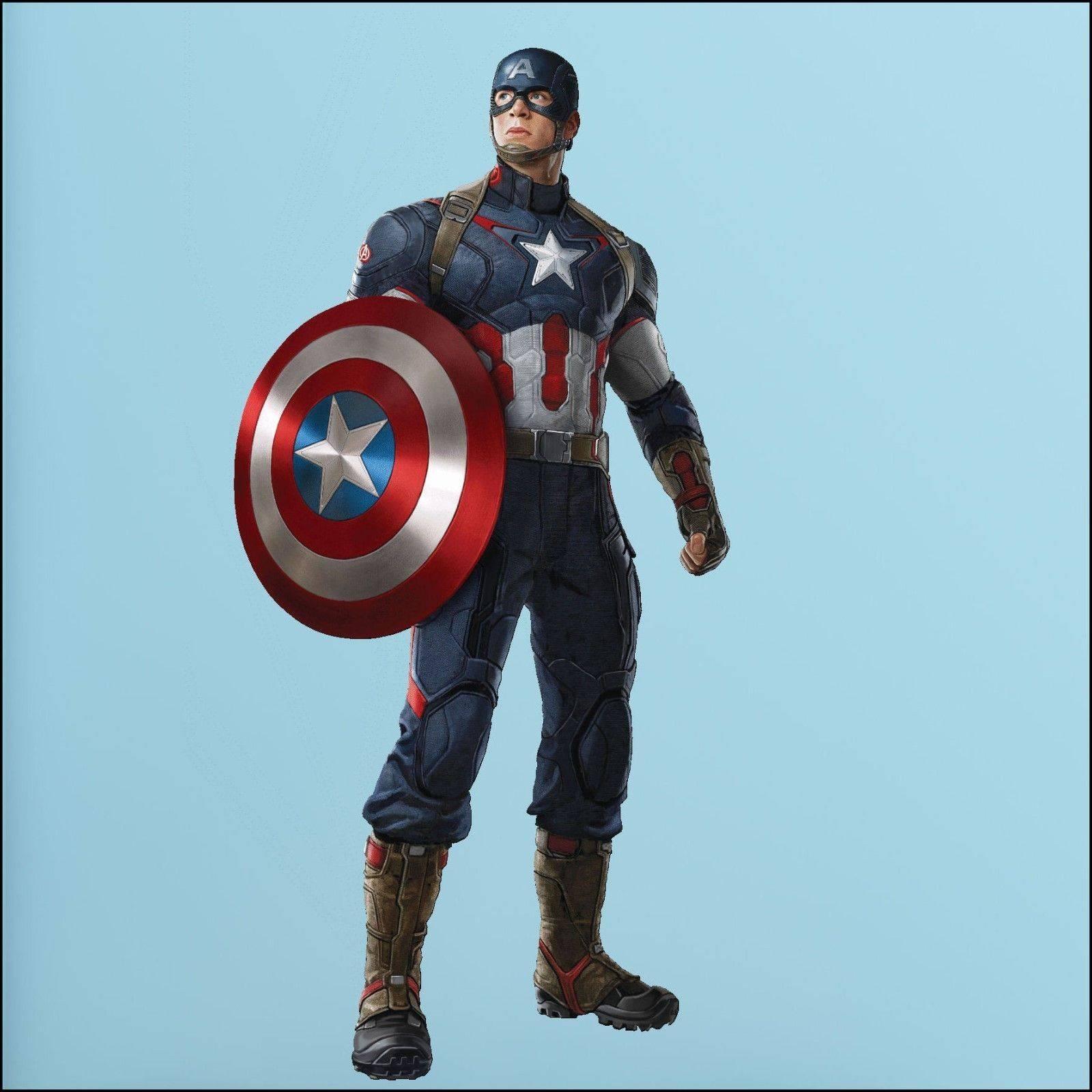 Captain America Avengers Photo Quality 3D Wall Sticker Art Mural Inside 2017 Captain America 3D Wall Art (View 15 of 20)