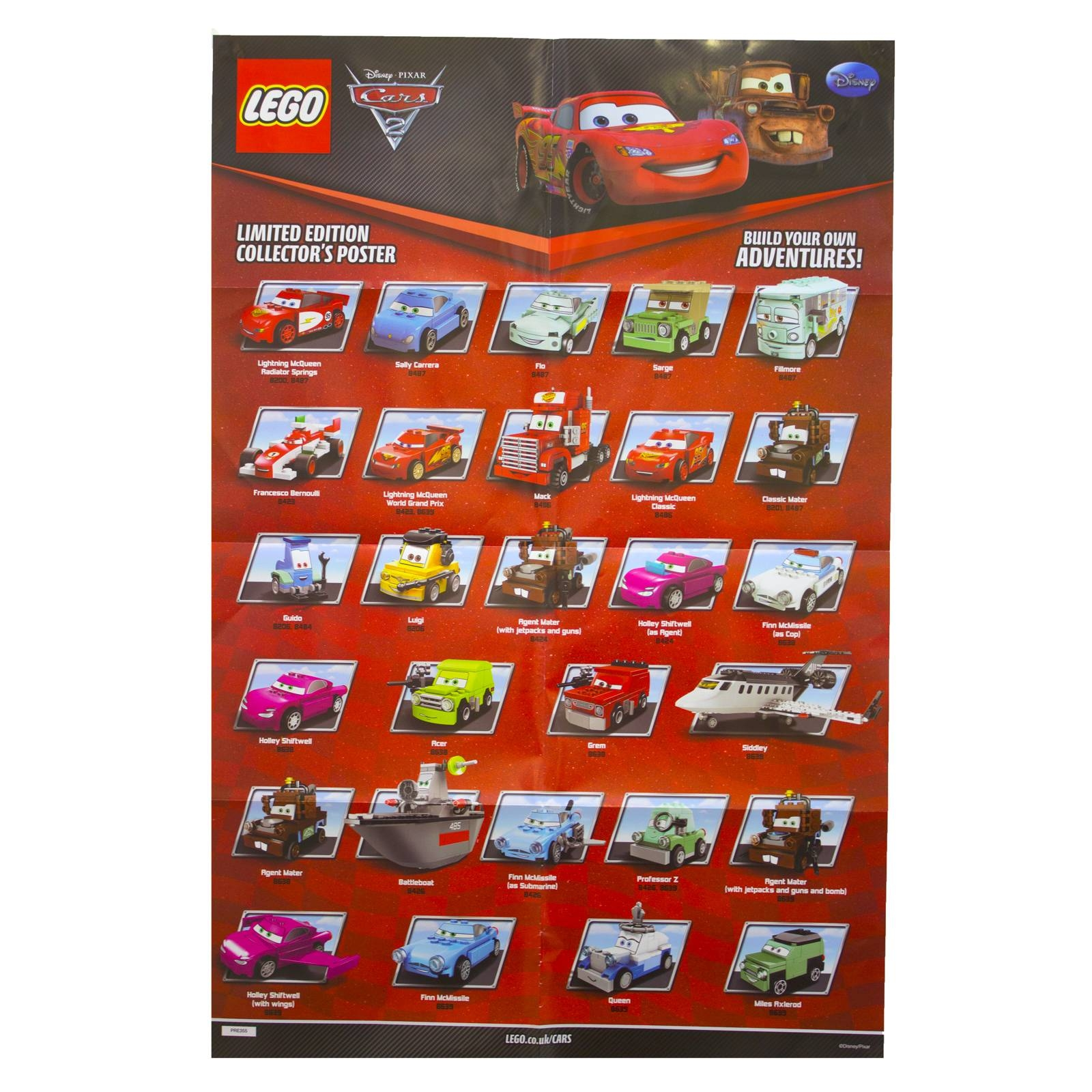 Cars 1 Characters Fresh Disney Cars 2 Poster Kids Wall Art Pack Intended For Best And Newest Lightning Mcqueen Wall Art (View 11 of 20)