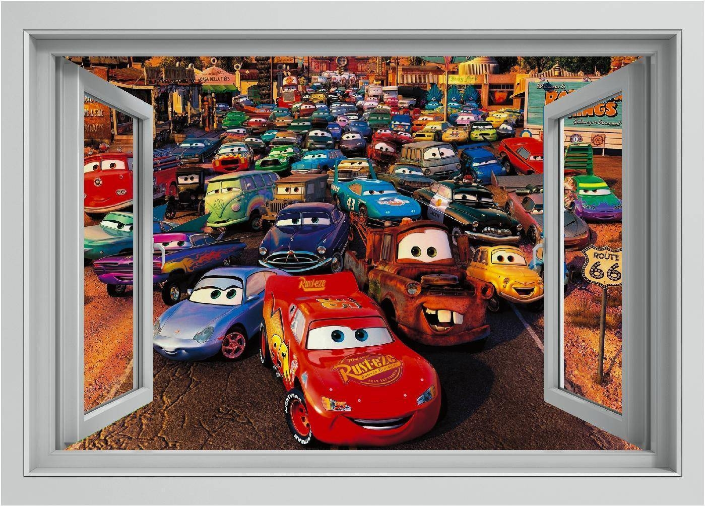 Cars Lightning Mcqueen Wall Art Window Printed Vinyl Sticker Decal Within Newest Lightning Mcqueen Wall Art (View 4 of 20)