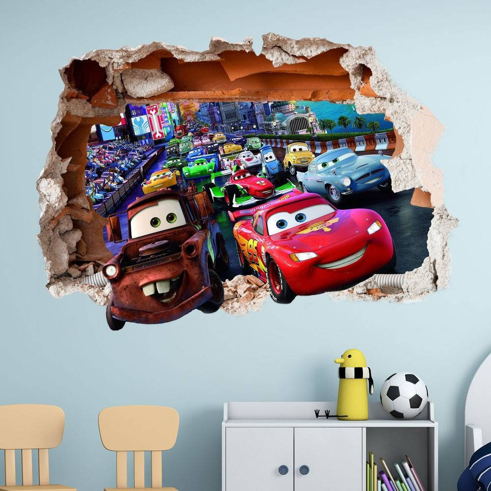 Cars Stickers For Wall – Wall Murals Ideas Pertaining To 2017 Lightning Mcqueen Wall Art (View 3 of 20)