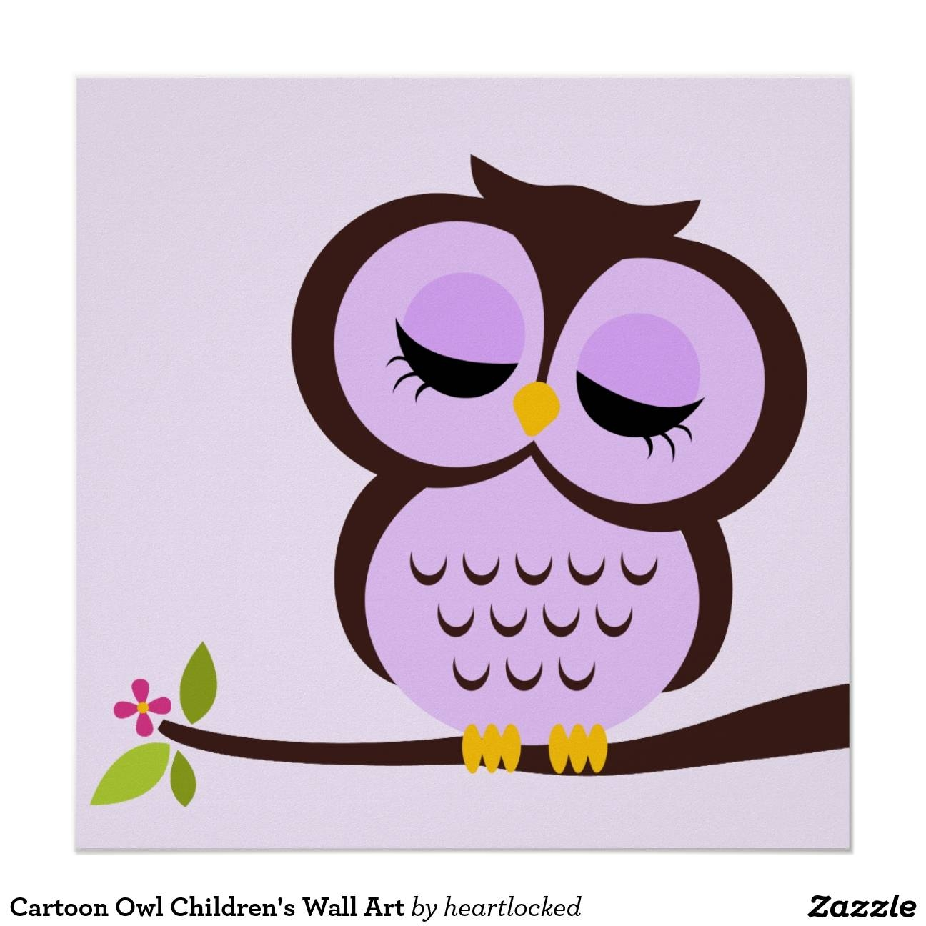 Cartoon Owl Art, Cartoon Owl Paintings Framed Artworkcartoon For Best And Newest Owl Framed Wall Art (View 9 of 20)
