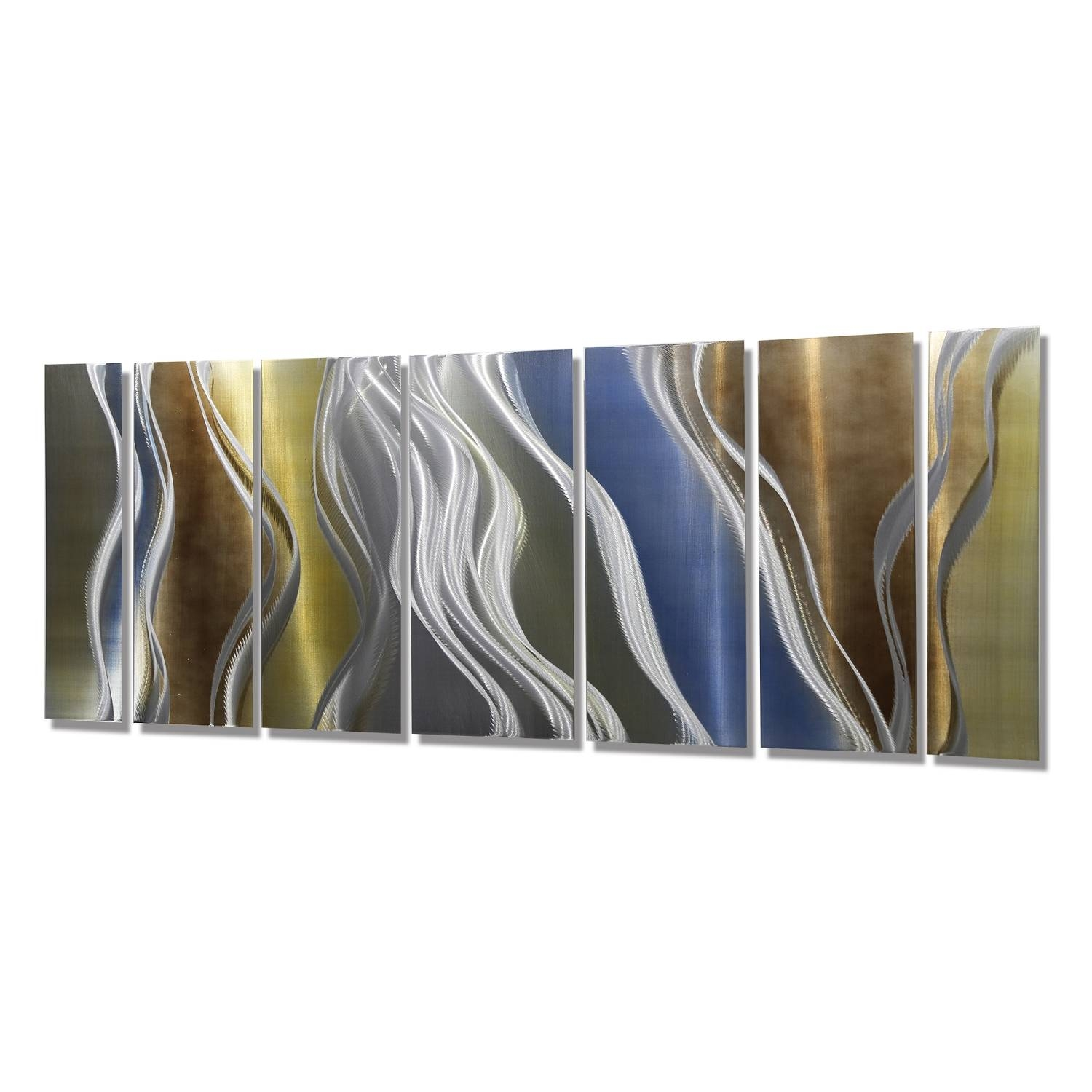 "Cascade Xljon Allen – 96"" X 36"" With Most Current Blue And Silver Wall Art (View 14 of 20)"