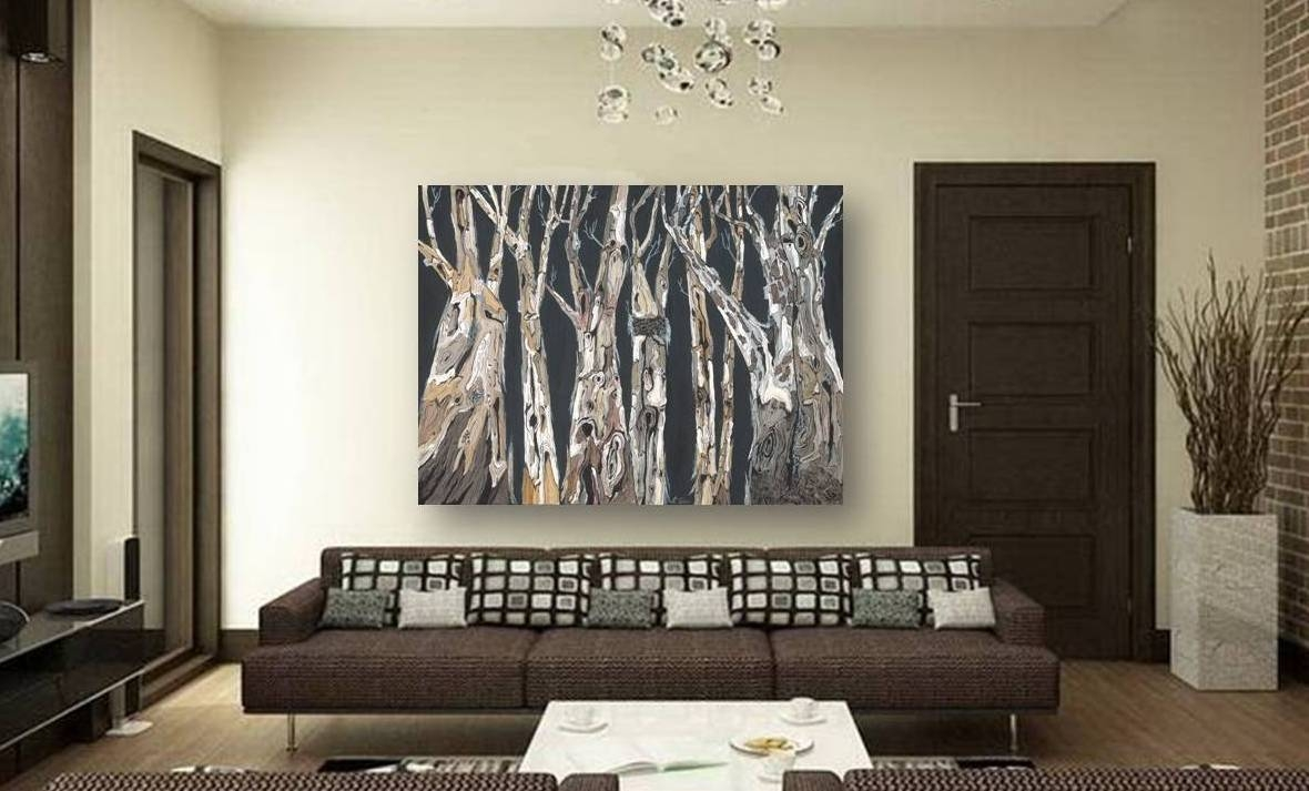 Catchy Large Wall Art Purple Trees Landscape Masculine Canvas Pertaining To Latest Large Inexpensive Wall Art (View 14 of 20)