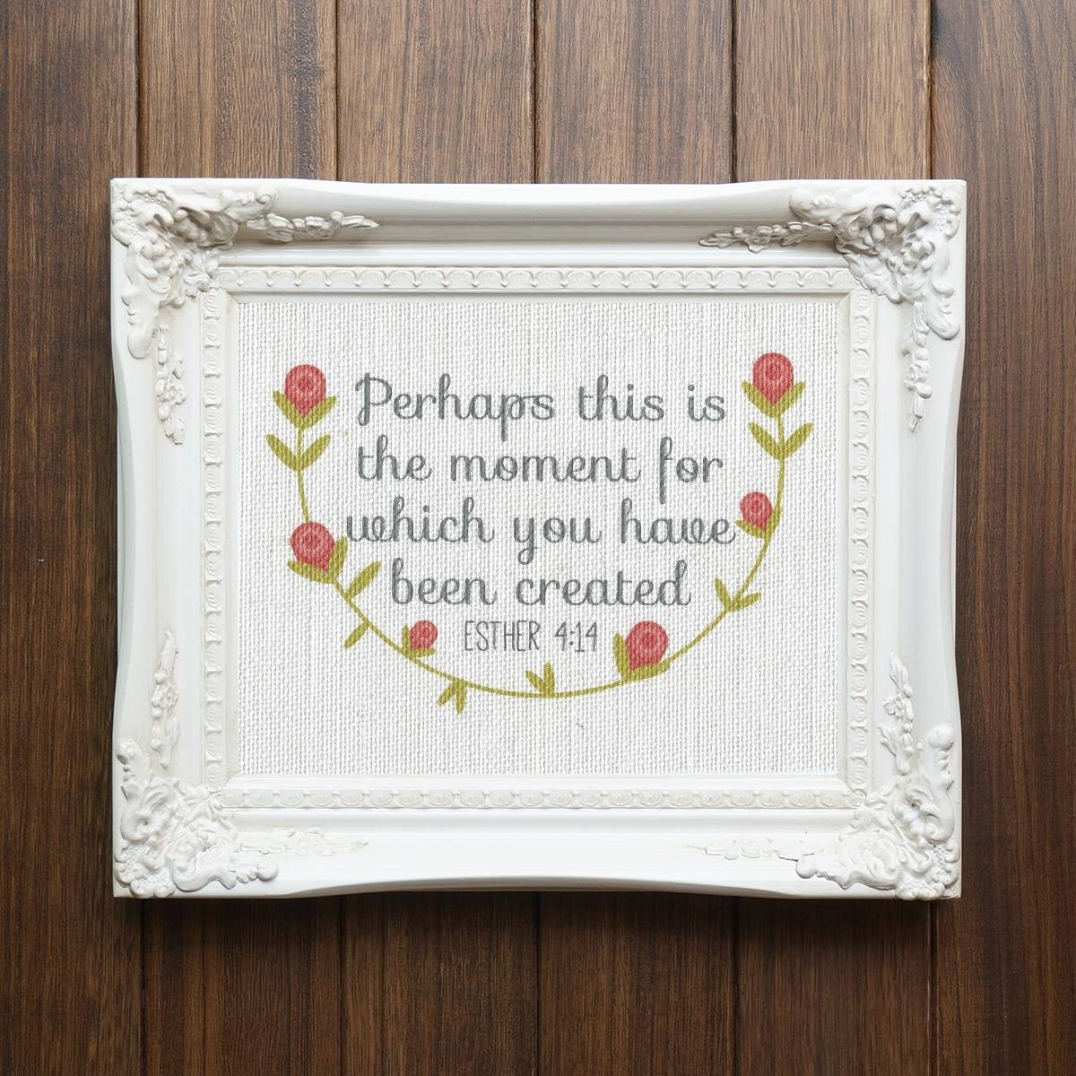 Cate Crafts – Beautiful Burlap Decor And More! With Current Bible Verses Framed Art (View 8 of 25)