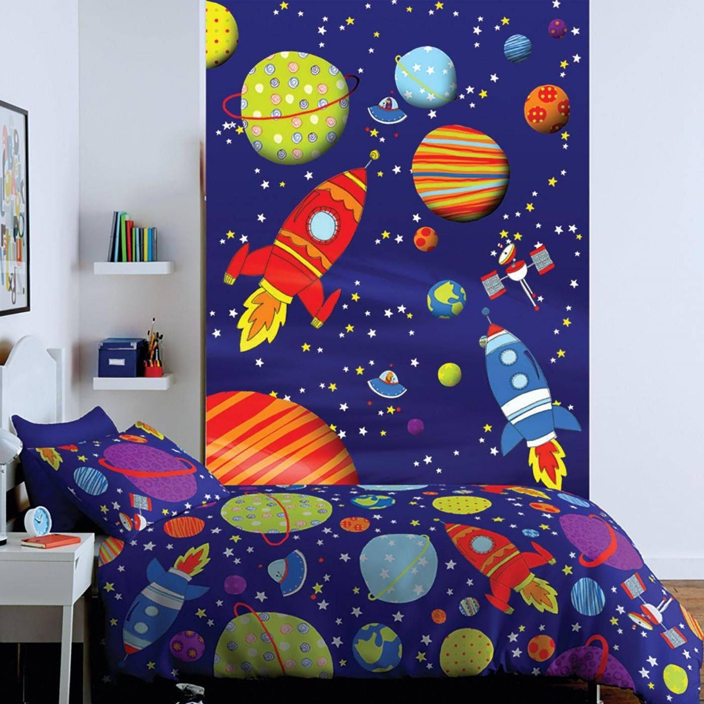 Catherine Lansfield Outer Space Wall Art Kiddicare Throughout Most Current Outer Space Wall Art (View 15 of 25)