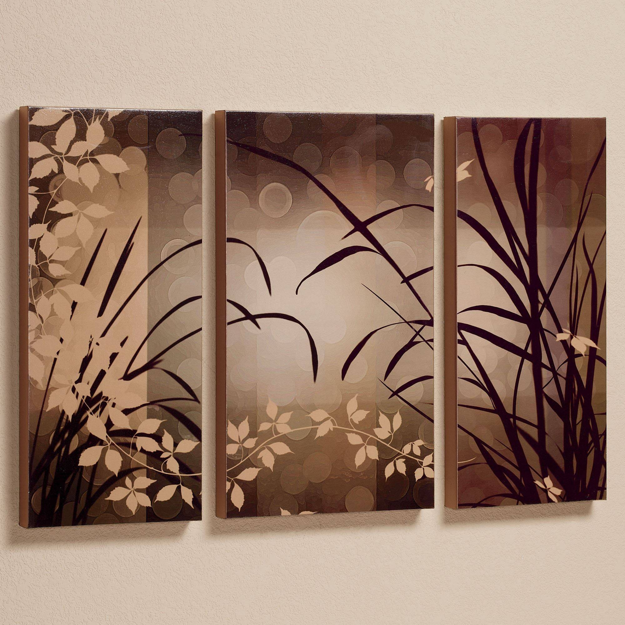 Celebrate Elegance Triptych Canvas Wall Art Set Inside Most Recently Released Brown Framed Wall Art (View 4 of 20)