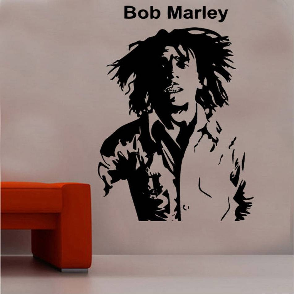 Celebrities Vinyl Wall Art »  Shop » Home For Most Popular Bob Marley Wall Art (View 21 of 30)