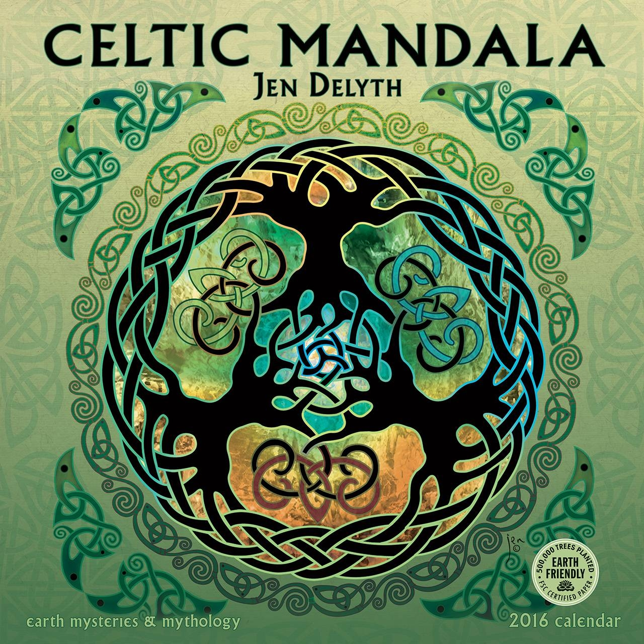 Celtic Mandala 2016 Wall Calendar 11.5 X (View 12 of 30)