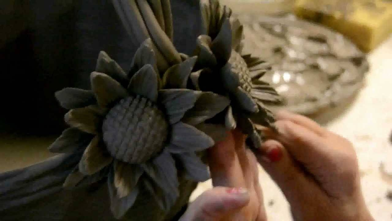 Ceramic Flowers Hand Madeitalian Expert Artisans – Youtube Pertaining To 2017 Italian Ceramic Wall Art (View 8 of 30)
