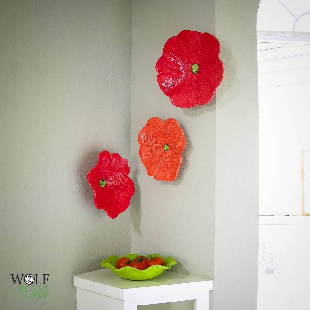 Ceramic Wall Flowers. Ceramic Rose Wreath More (View 10 of 30)