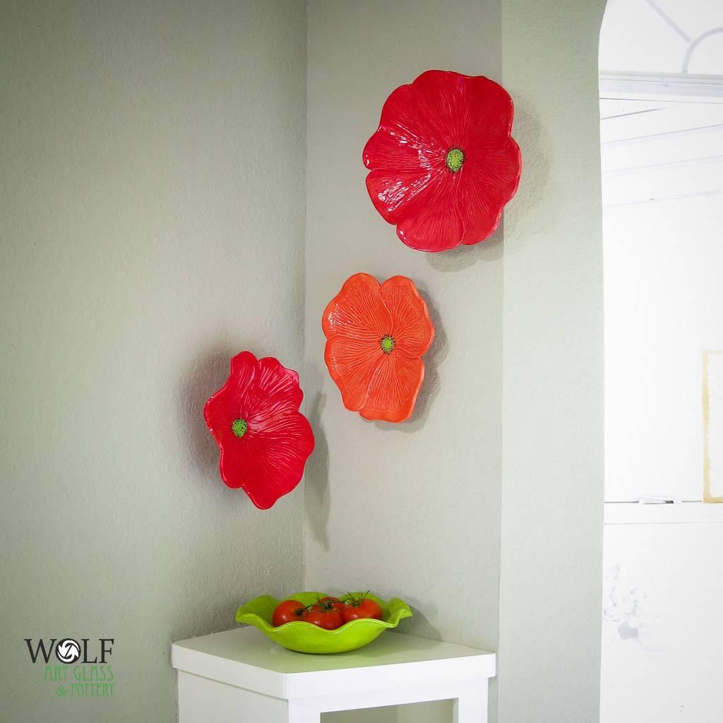 Ceramic Wall Flowers. Ceramic Rose Wreath More (View 25 of 30)