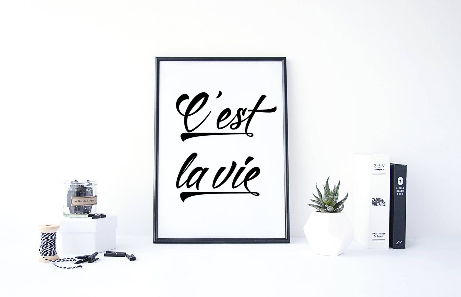 Cest La Vie French Print French Quote French Words Regarding Most Recent Life Is Good Wall Art (View 6 of 30)