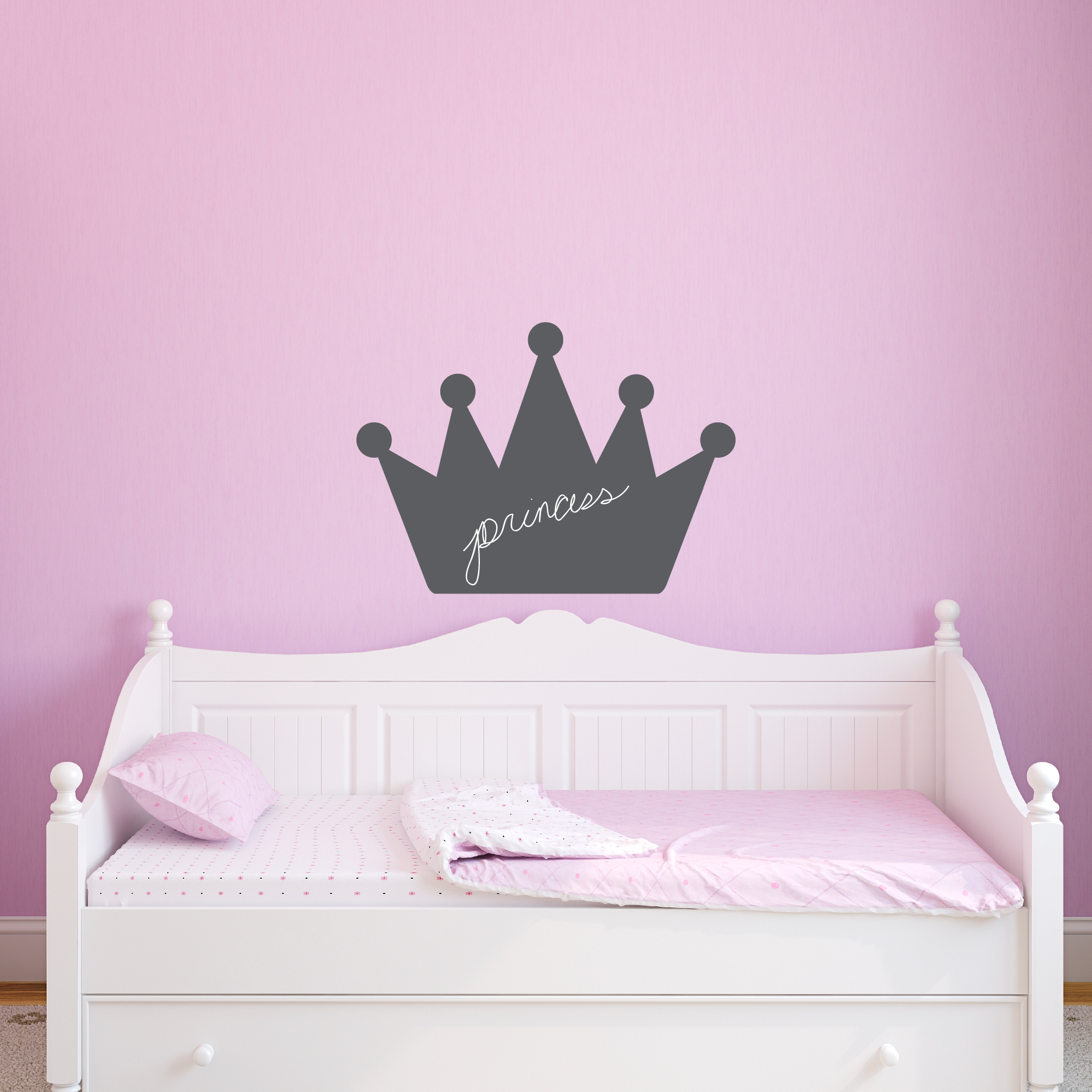 Chalkboard Princess Crown Wall Quotes™ Art Decal | Wallquotes Inside Most Recently Released Princess Crown Wall Art (View 6 of 25)