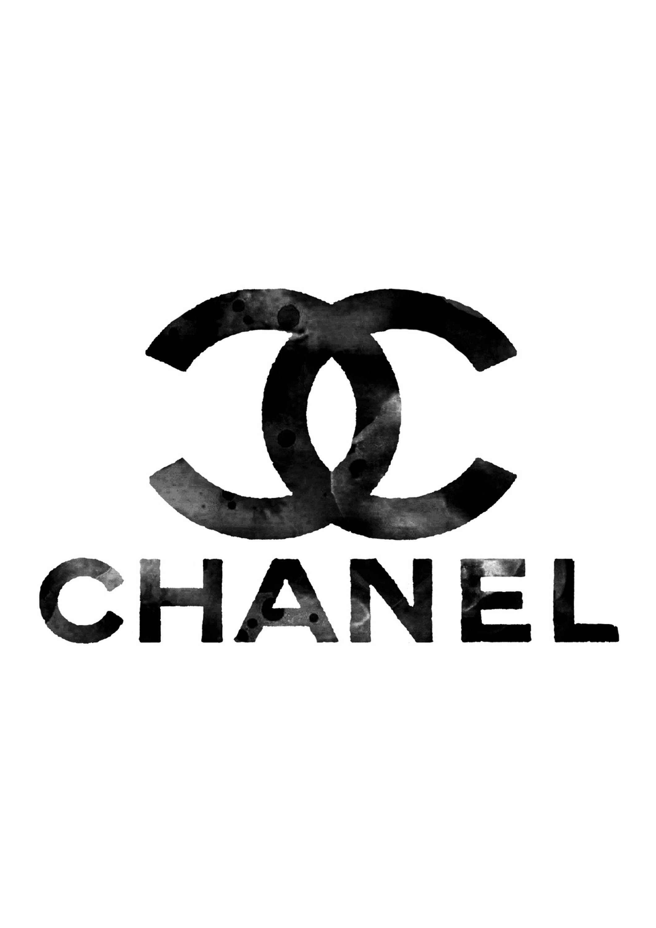 Chanel Logo Art Print Chanel Poster Chanel Warecolor Chanel Pertaining To Most Recently Released Chanel Wall Decor (View 21 of 25)
