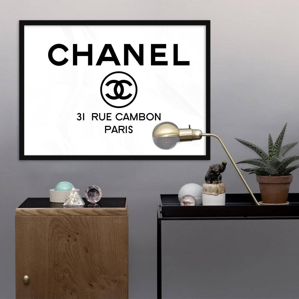 Chanel Logo Printable 31 Rue Cambon Paris Fashion Coco With Regard To Most Popular Coco Chanel Wall Stickers (View 30 of 30)