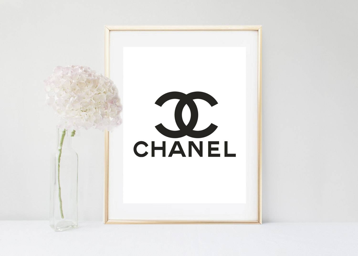Chanel Wall Art Pink Chanel Logo Printable Art Coco Chanel Pertaining To Most Up To Date Chanel Wall Decor (View 2 of 25)