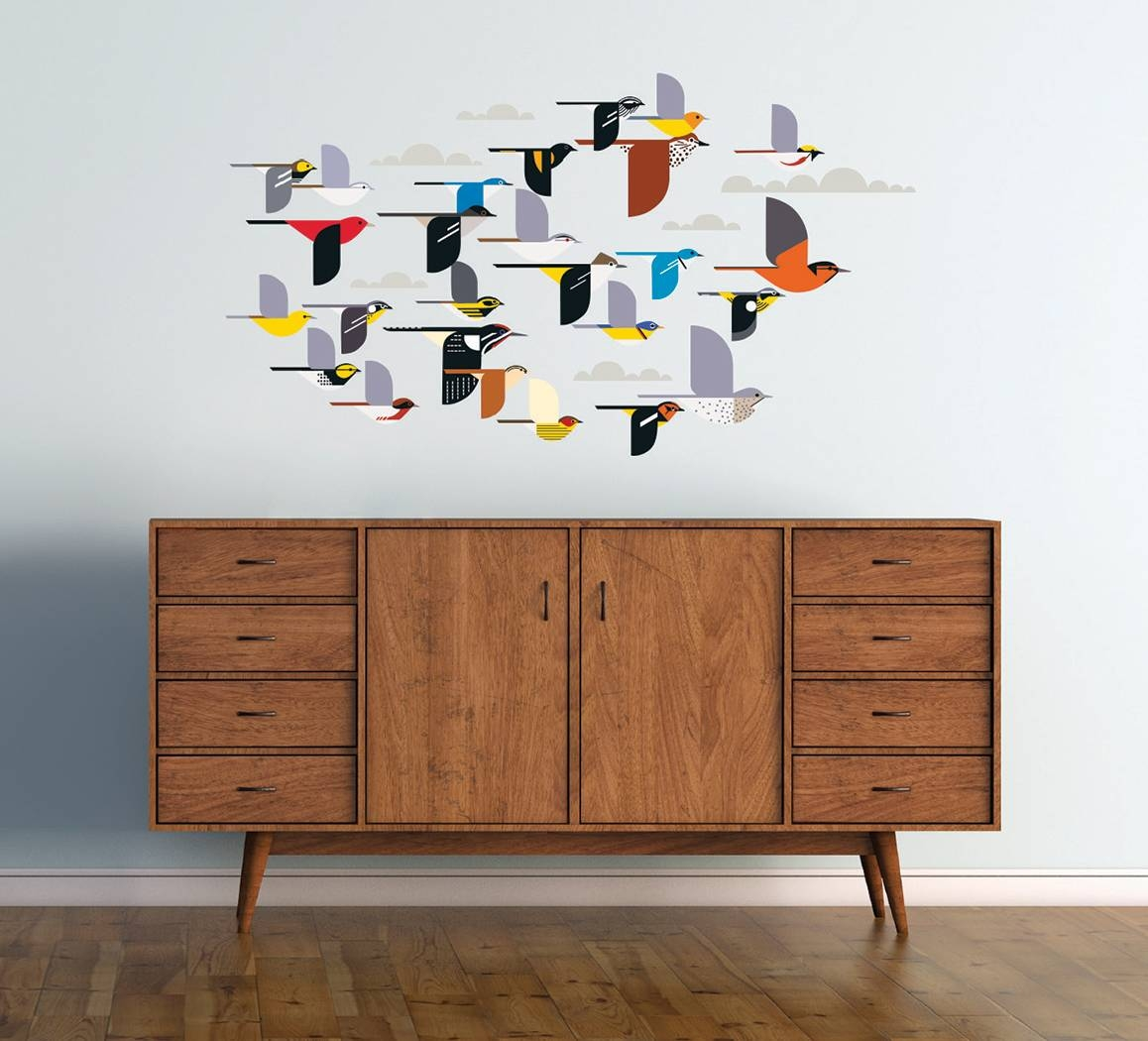 Charley Harper: A Flock Of Birds Wall Décor For Recent Flock Of Birds Wall Art (View 9 of 25)
