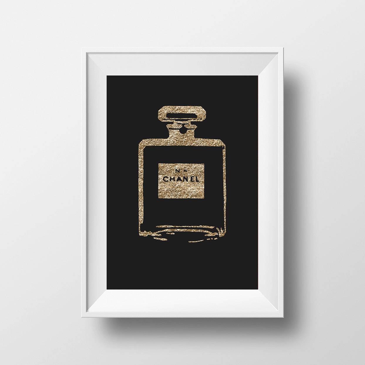 Charming Chanel Perfume Wall Art Uk Chanel Wall Art A Coco Chanel Within 2017 Chanel Wall Decor (View 9 of 25)