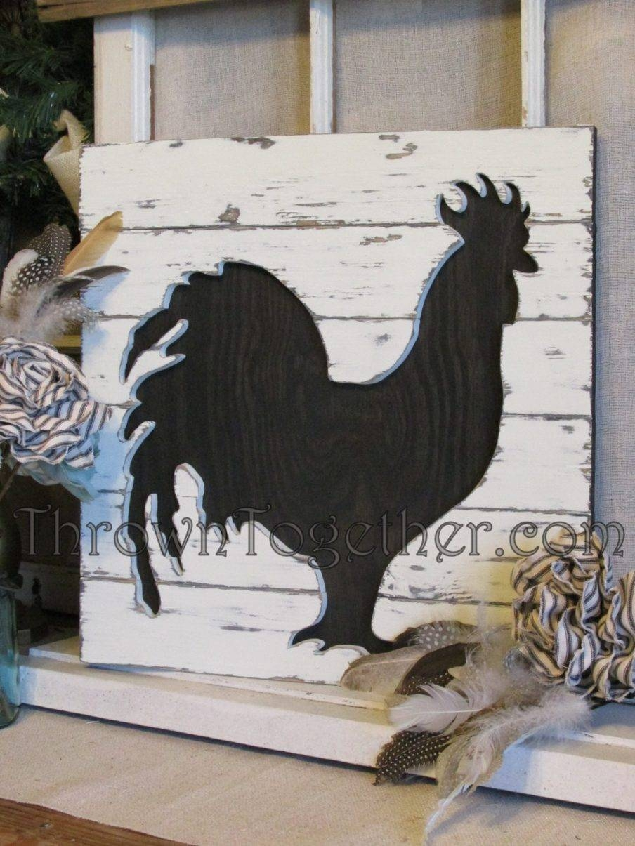 Charming French Country Rooster Wall Art Trio Rustic Rooster For Best And Newest Metal Rooster Wall Decor (View 4 of 25)