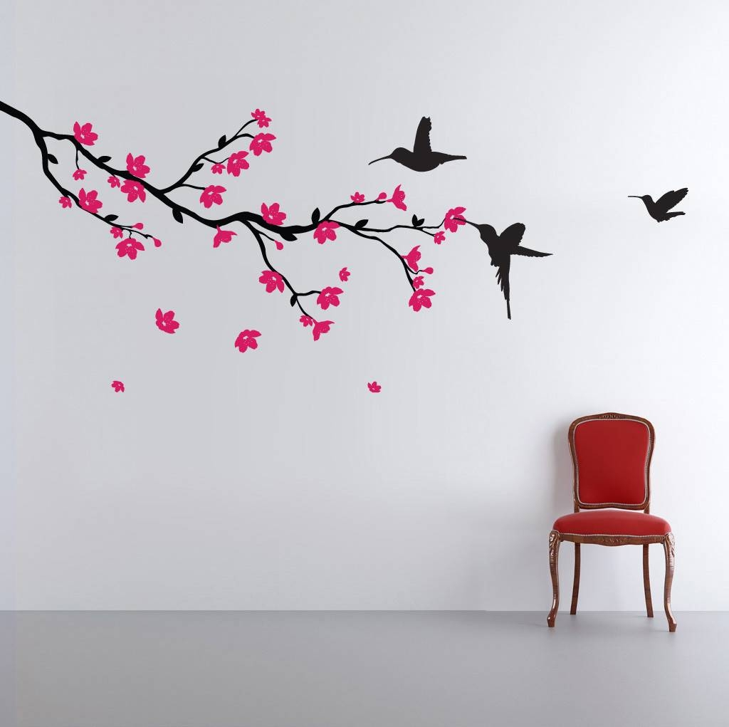Featured Photo of Red Cherry Blossom Wall Art