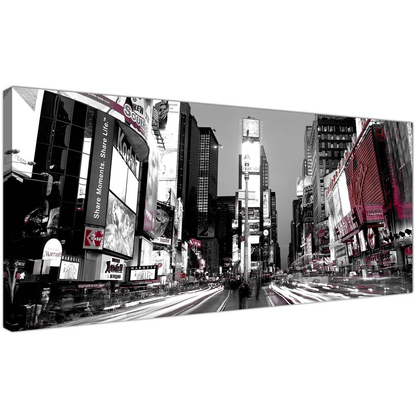 Cheap Black And White Canvas Prints Of New York Times Square Pertaining To Recent Black And White New York Canvas Wall Art (View 3 of 20)