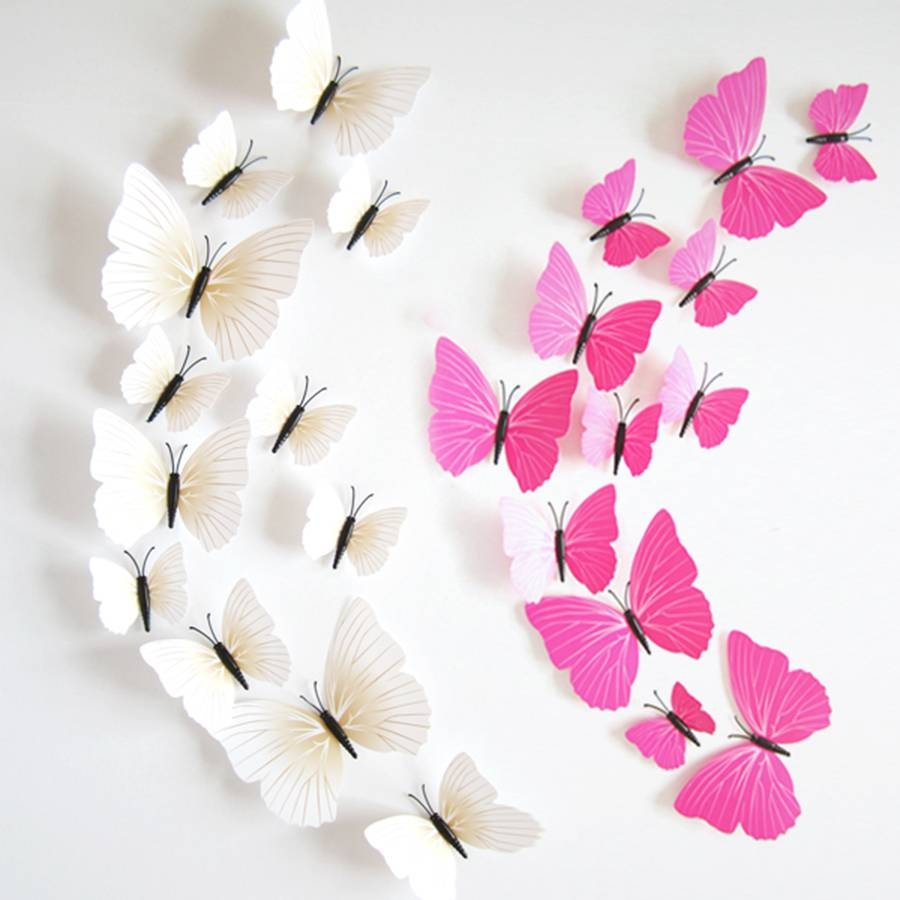 Cheap Butterfly Wall Decor 3D, Find Butterfly Wall Decor 3D Deals Throughout Current Diy 3D Wall Art Butterflies (View 9 of 20)