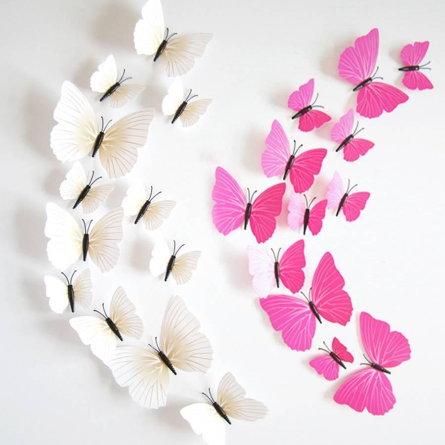 Cheap Butterfly Wall Decor 3D, Find Butterfly Wall Decor 3D Deals Throughout Current Diy 3D Wall Art Butterflies (View 9 of 20)