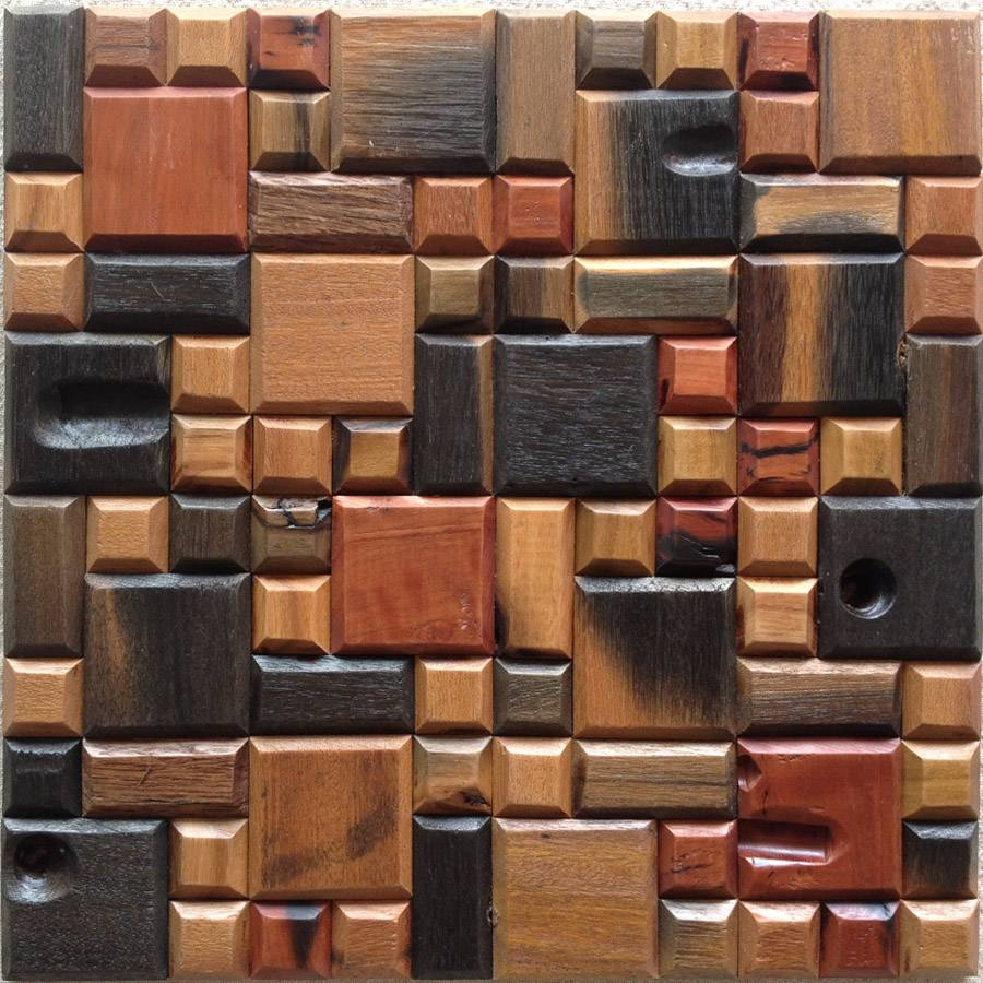 Cheap Mosaic 3D Wall Art Panel Design With Multiple Size And Color With Regard To Newest Multiple Panel Wall Art (View 10 of 20)