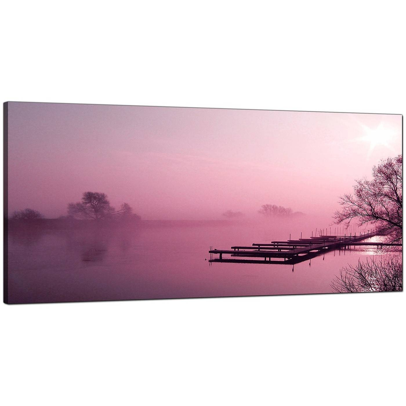 Cheap Plum Canvas Prints Of A River Landscape Intended For Recent Plum Coloured Wall Art (View 14 of 20)