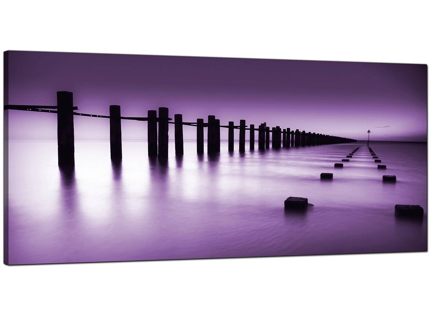 Cheap Purple Canvas Prints Of The Seaside Within Most Current Purple Canvas Wall Art (View 9 of 20)