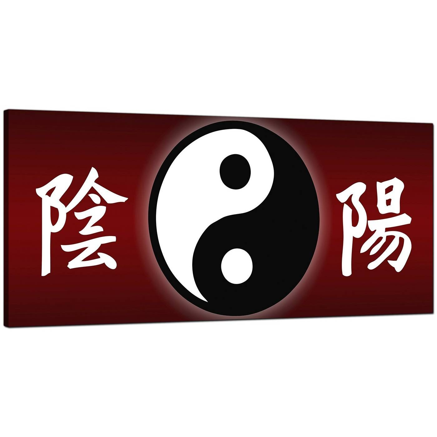 Cheap Red Canvas Wall Art Of Chinese Writing And Yin Yang Symbol In Most Recent Chinese Symbol Wall Art (View 4 of 30)