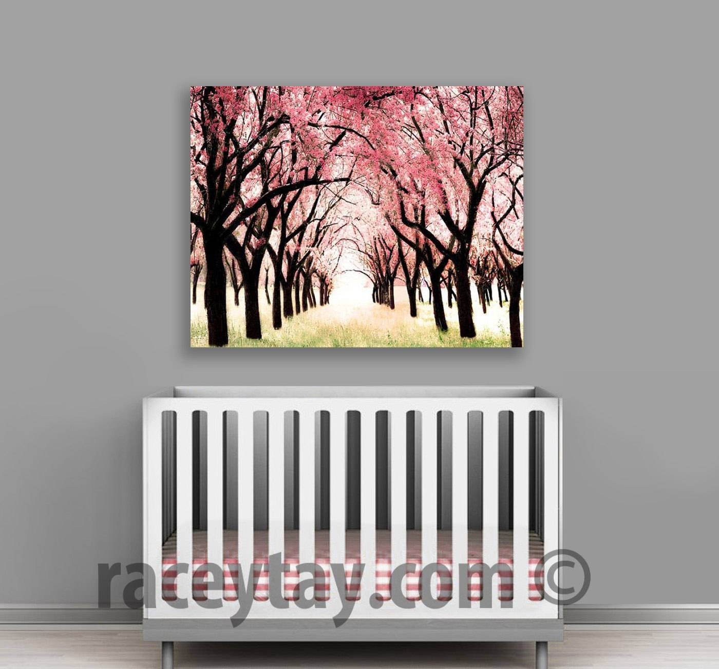 Cherry Blossom Canvas Large Canvas Art Nature Photography Inside 2017 Nursery Canvas Art (View 12 of 20)