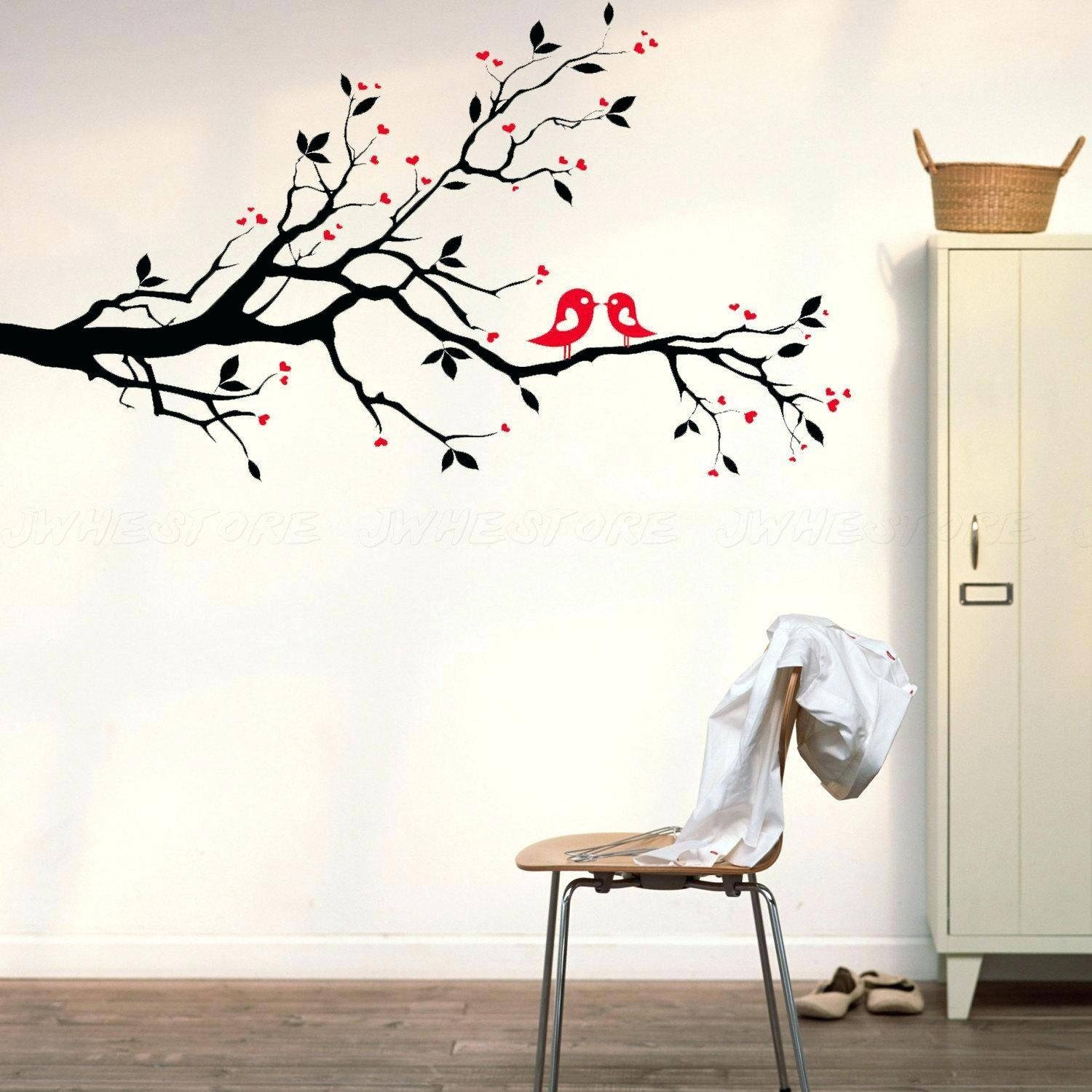 Cherry Blossom Tree Vinyl Wall Decal Best Ideas Oak Tree Vinyl With Regard To Latest Oak Tree Wall Art (View 2 of 30)